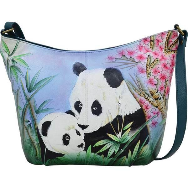 【正規品質保証】 アンナバイアナシュカ Hand レディース ハンドバッグ バッグ Hand Painted Leather Leather Medium Hobo Medium Bag 8388 Lovable Pandas, 医療食介護食の まごころ情報館:be88d491 --- chevron9.de
