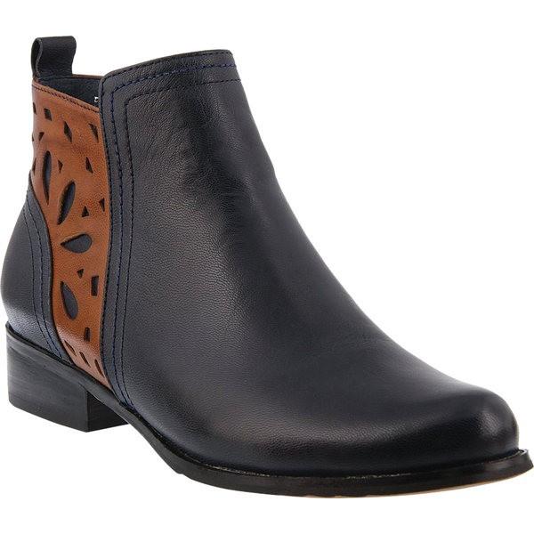 多様な ブーツ&レインブーツ レディース Bootie Leather シューズ Isabelle Navy Ankle スプリングステップ-靴・シューズ
