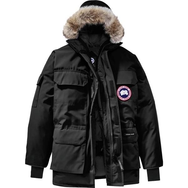 【ギフ_包装】 Down メンズ Black ジャケット&ブルゾン Parka アウター - Expedition Men's カナダグース-ジャケット・アウター