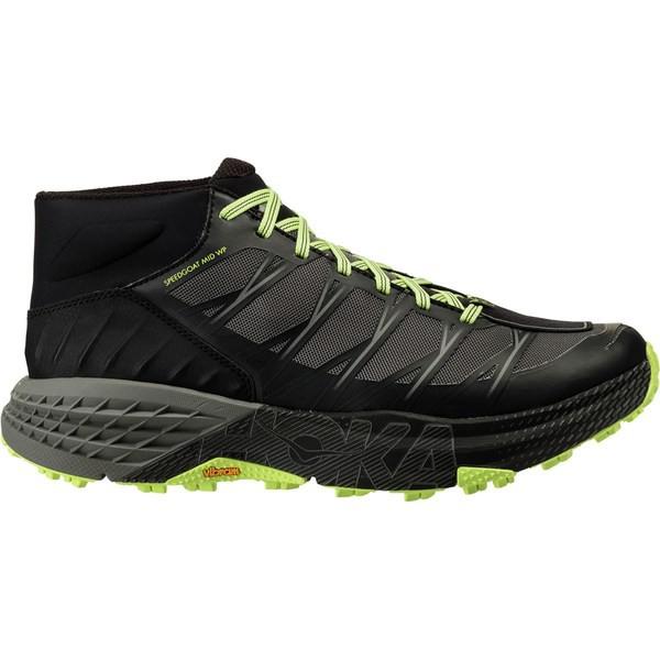 正規品 ホッカオネオネ メンズ ランニング スポーツ Speedgoat Mid WP Trail Run Shoe - Men's Black/Steel Gray, ヨノウヅムラ 16fc0af0