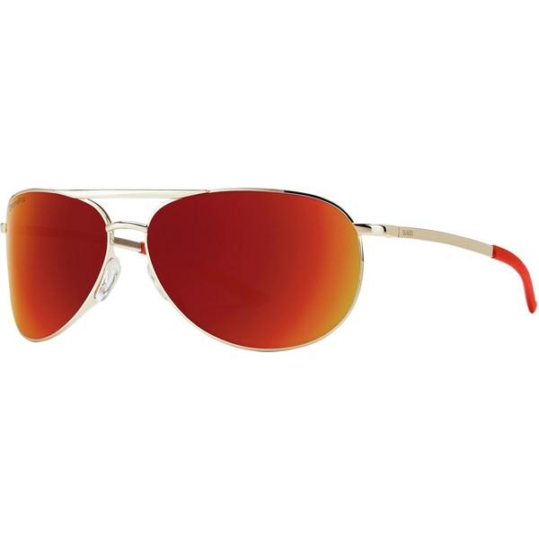【送料無料/即納】  スミス メンズ サングラス・アイウェア アクセサリー Serpico 2 Slim ChromaPop Sunglasses Gold/Sun Red Mirror, 山下屋荘介 17b80803