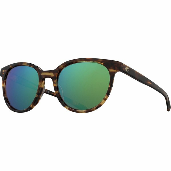 【激安大特価!】 コスタ レディース サングラス&アイウェア アクセサリー Isla 580G Polarized Sunglasses - Women's Shiny Tortoise Frame/Green Mirror, 船岡町 a8c082d6