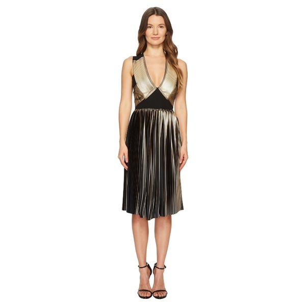 手数料安い イエガルズロール レディース ワンピース トップス ワンピース Foil V-Neck Pleat V-Neck レディース Dress Gold/Jet, トータルフットウェア HIGH&LOW:35c12682 --- ballettstudio-gri.de