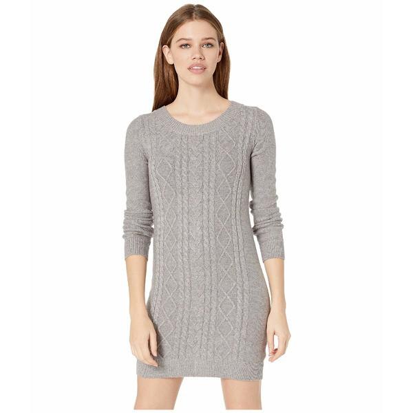 ジャック バイ ビービーダコタ レディース ワンピース トップス Keeps Getting Sweater Cable Knit Dress Light Heather Grey