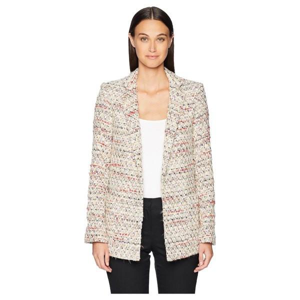 【まとめ買い】 アダム リピズ レディース コート アウター Cotton Tweed Long Blazer Ivory Multi, カトウグン bdd1ea96