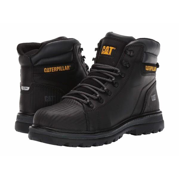 殿堂 キャタピラー メンズ ブーツ&レインブーツ シューズ Foxfield Steel Toe Black Leather, パーツビレッジハーテン 1bc57212