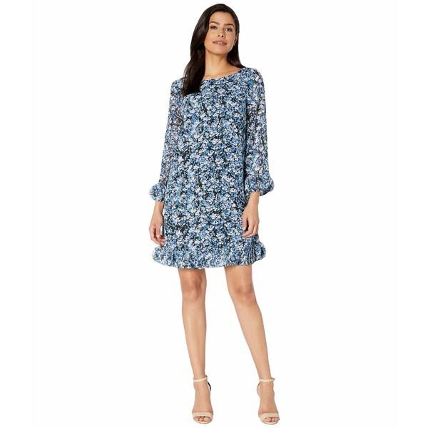 【レビューで送料無料】 Flora Hem Ditsy Sleeve Sleeve Detail トップス レディース タハリ ワンピース Chiffon Printed and with Long Floral Ditsypaint Dress-スーツ