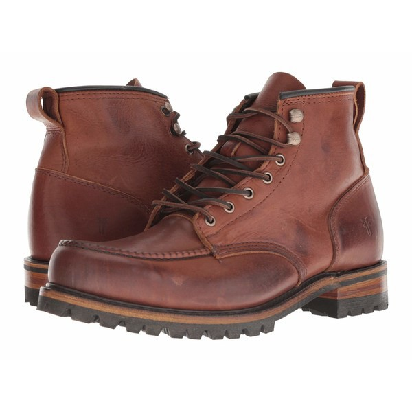 【5%OFF】 フライ メンズ ブーツ&レインブーツ シューズ Penn Lug Moc Workboot Brown Oiled Vintage, 蒲生町 17ba445c