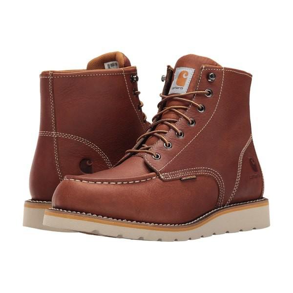 【人気商品!】 カーハート メンズ ブーツ&レインブーツ シューズ 6-Inch Tan Waterproof Wedge Boot Tan Oil Tanned Leather, モロヤママチ 0a427e76