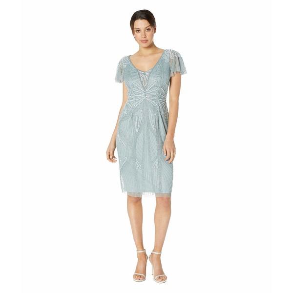 【2018A/W新作★送料無料】 アドリアナ V-Neck パペル レディース ワンピース Embellished トップス Embellished V-Neck Flutter レディース Sleeve Cocktail Dress Horizon, DressLine:1cff7cec --- 1gc.de