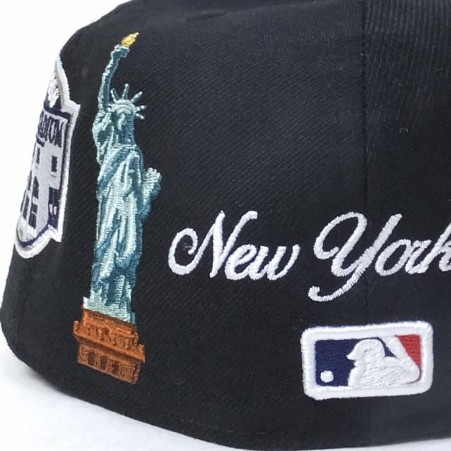 ニューエラ ベースボールキャップ メンズ 帽子 59FIFTY スーベニア ニューヨーク・ヤンキース ブラック×ホワイト