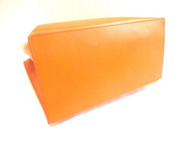 フルラ FURLA ハンドバッグ オレンジ レザー【中古】