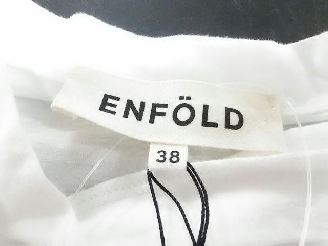 エンフォルド ENFOLD ノースリーブカットソー サイズ38【M】 レディース 白 変形デザイン【中古】