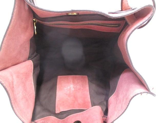 アンドレアマビアーニ ANDREA MABIANI トートバッグ ブラウン ハンドストラップ着脱可能 レザー【中古】