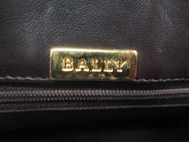 バリー BALLY ハンドバッグ ダークブラウン キルティング レザー【中古】