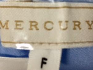 マーキュリーデュオ MERCURYDUO ワンピース サイズF レディース 美品 ライトブルー×マルチ 花柄【中古】