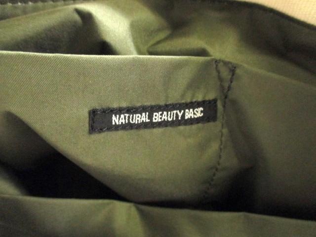 ナチュラルビューティー ベーシック NATURAL BEAUTY BASIC トートバッグ アイボリー キャンバス【中古】