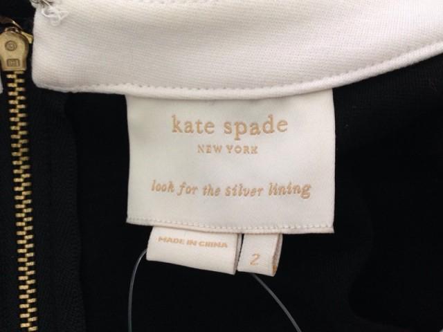 ケイトスペード Kate spade ワンピース サイズ2 S レディース 黒×アイボリー【中古】