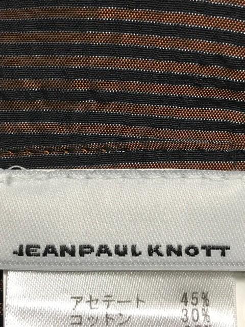 ジャンポールノット JEAN PAUL KNOTT ワンピース サイズ1 S レディース 美品 ブラウン×黒 ストライプ【中古】