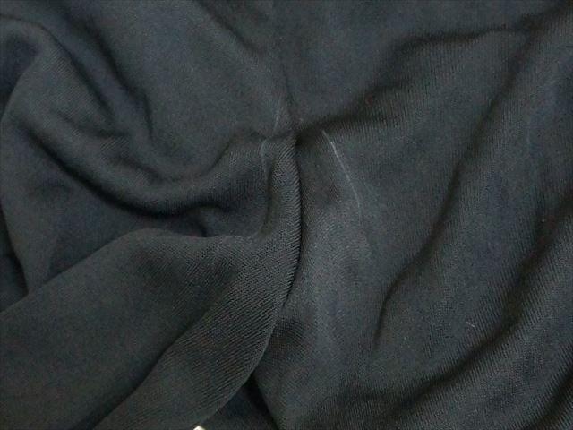 ヴェルサーチ VERSACE ワンピース サイズ42 L レディース 黒×パープル×マルチ ドレープ【中古】
