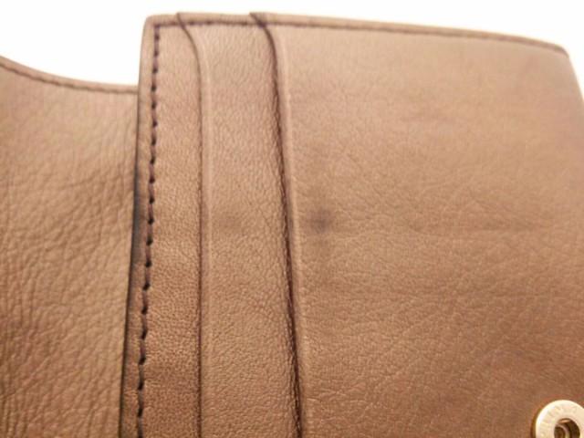 アンテプリマ ANTEPRIMA 2つ折り財布 ライトブラウン スカル/ラインストーン/ビーズ レザー【中古】