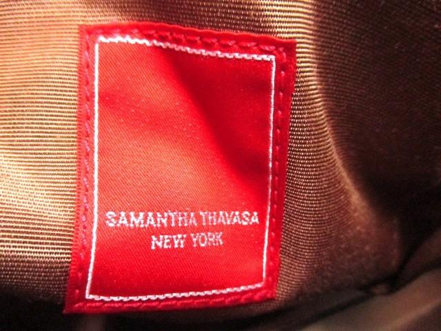 サマンサタバサニューヨーク Samantha Thavasa New York ハンドバッグ ブラウン レザー【中古】
