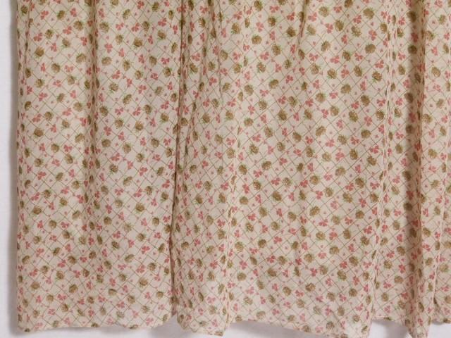 ハウピア haupia ワンピース サイズ38 M レディース 美品 ベージュ×ピンク×マルチ キャミワンピ/花柄/クローバー柄【中古】