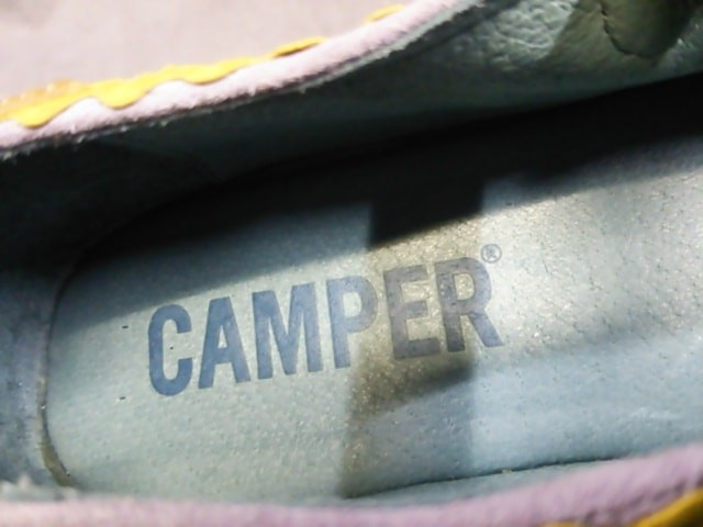 カンペール CAMPER シューズ 38 レディース パープル×イエロー スエード【中古】