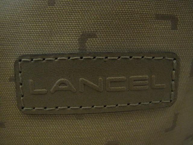 ランセル LANCEL ハンドバッグ カーキ PVC(塩化ビニール)×レザー【中古】