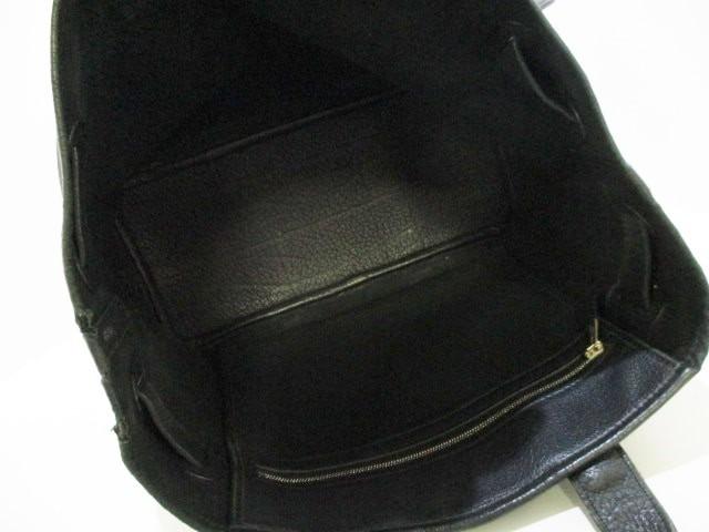 エルメス HERMES トートバッグ プティット・サンチュールPM 黒 キャンバス×レザー【中古】