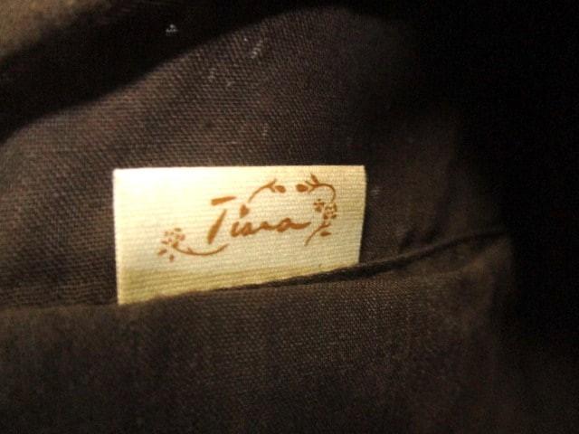 ティアラ Tiara ハンドバッグ ライトブラウン×ブラウン×アイボリー レース ラタン×合皮×コットン【中古】
