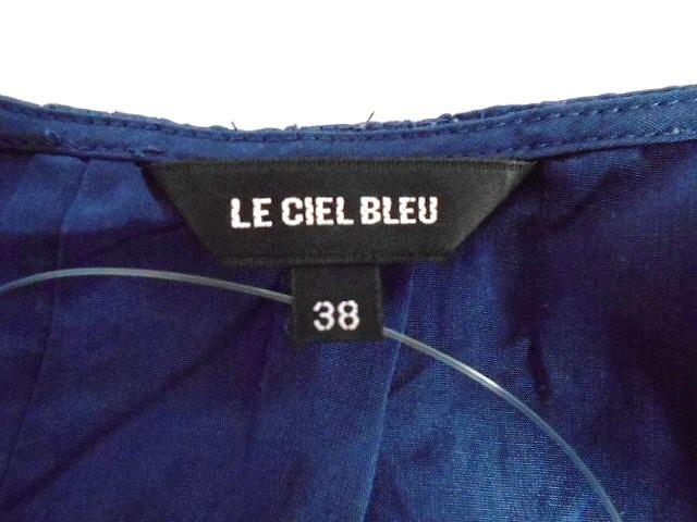 ルシェルブルー LE CIEL BLEU ワンピース サイズ38 M レディース ネイビー【中古】