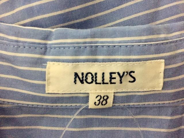 ノーリーズ NOLLEY'S ワンピース サイズ38 M レディース ライトブルー×アイボリー ボーダー【中古】