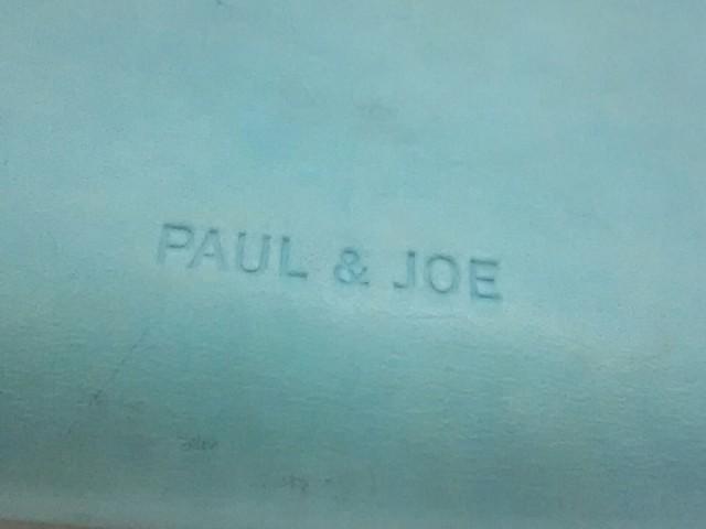 ポール&ジョー Paul&Joe 3つ折り財布 レディース ライトブルー ピーコック レザー【中古】