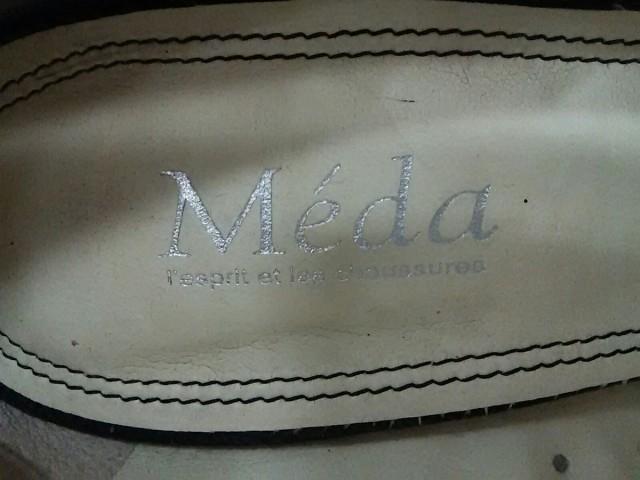 メダ Meda パンプス 24 レディース ダークグレー ウェッジソール/オープントゥ キャンバス【中古】