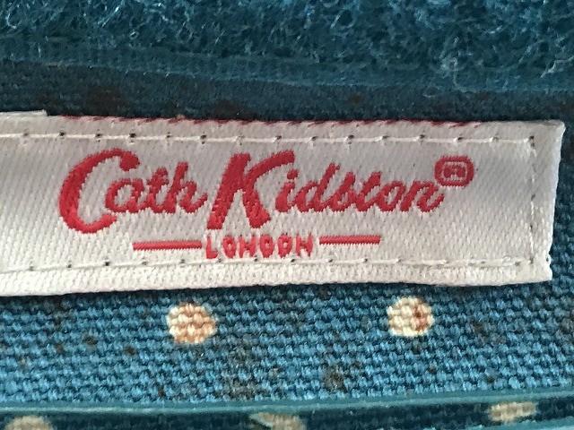キャスキッドソン Cath Kidston 名刺入れ ブルー×白 ドット柄 PVC(塩化ビニール)【中古】