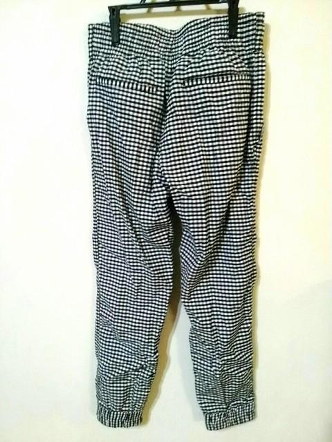 ロデオクラウンズ RODEOCROWNS パンツ サイズ2 M レディース 白×黒 チェック柄【中古】