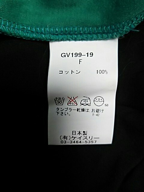 ジーヴィジーヴィ G.V.G.V. ワンピース サイズF レディース ダークネイビー×グリーン【中古】