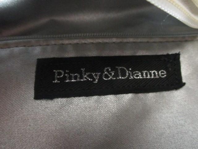 ピンキー&ダイアン Pinky&Dianne ボストンバッグ アイボリー×ライトブルー×マルチ ラメ PVC(塩化ビニール)×合皮【中古】