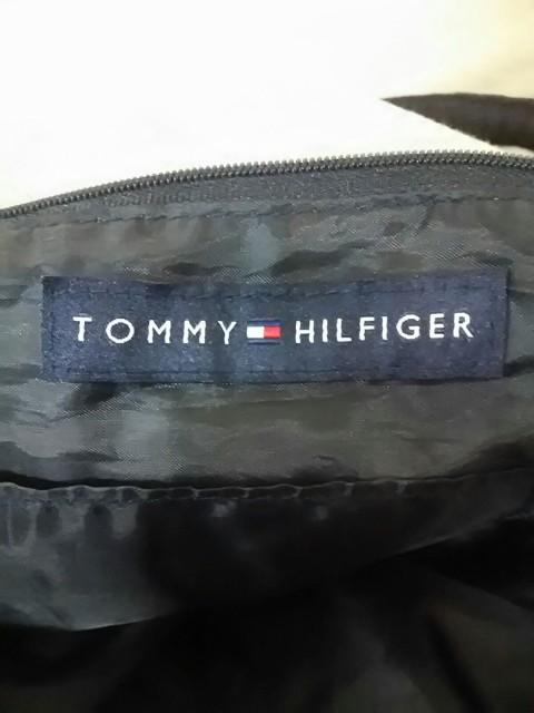 トミーヒルフィガー TOMMY HILFIGER ボストンバッグ ベージュ×アイボリー×レッド キャンバス【中古】