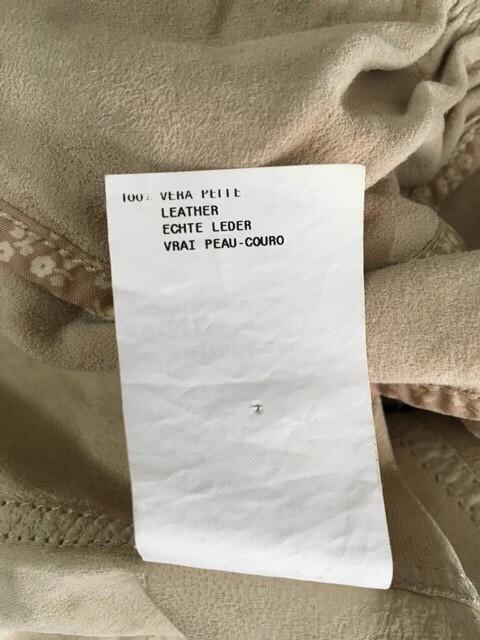 エンポリオアルマーニ EMPORIOARMANI ジャケット サイズ38 S レディース ベージュ レザー/花柄【中古】