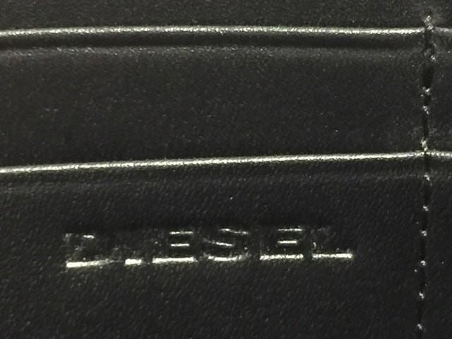 ディーゼル DIESEL 長財布 ダークネイビー×黒×ライトグレー ラウンドファスナー デニム×レザー【中古】
