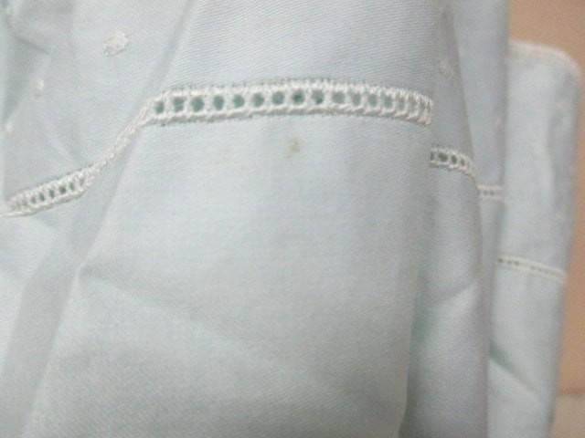 カルバンクライン CalvinKlein 日傘 美品 ライトブルー 刺繍/ドット柄 コットン【中古】