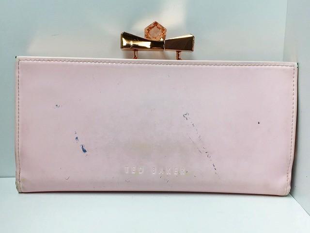 28e31164fc78 テッドベイカー TED BAKER 長財布 ピンク がま口/リボン エナメル(レザー)×金属
