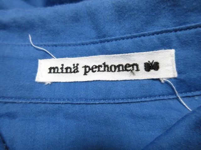 ミナペルホネン mina perhonen (mina) 長袖シャツブラウス サイズ36 S レディース ブルー【中古】