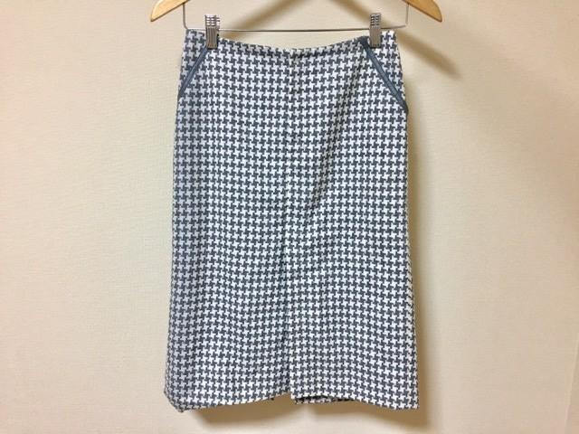 ボディドレッシングデラックス BODY DRESSING Deluxe スカート サイズ9 M レディース グレー×白 千鳥格子【中古】