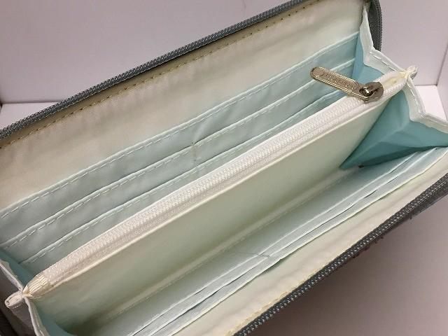 レスポートサック LESPORTSAC 長財布 リリィ 6506 ライトブルー×ピンク×マルチ ラウンドファスナー/人魚柄 レスポナイロン【中古】