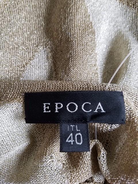 エポカ EPOCA ワンピース レディース ベージュ フリル/ラメ/シースルー【中古】