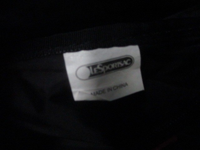レスポートサック LESPORTSAC ショルダーバッグ 黒×マルチ レスポナイロン【中古】