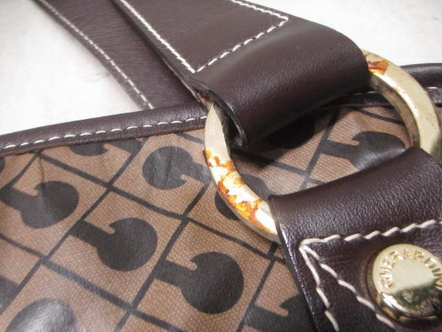 ゲラルディーニ GHERARDINI ハンドバッグ レディース ダークブラウン PVC(塩化ビニール)×レザー【中古】